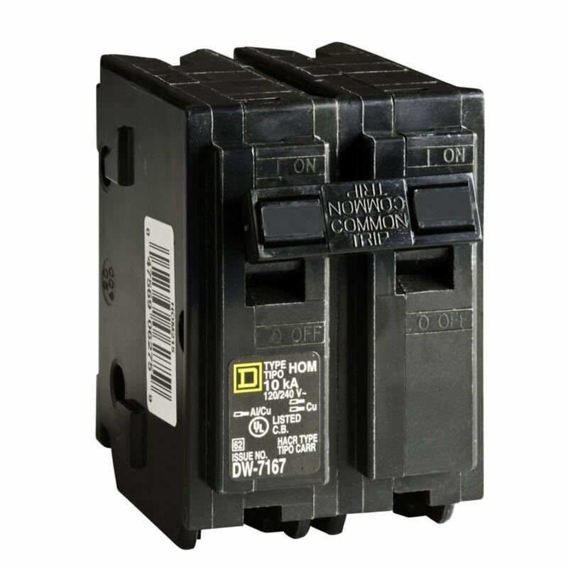 Square D Circuit Breaker, 45 Amp, 2-Pole, HOM245