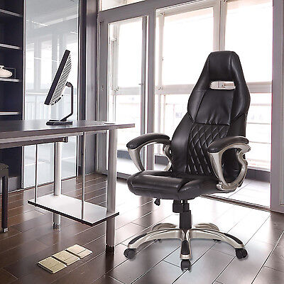 BLACK FRIDAY Computer Office Racing Chair Faux Leather PU Chair Swivel Furniture