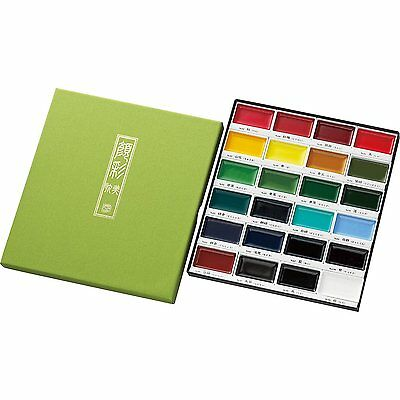 ZIG Kuretake Gansai Tambi Japanese Watercolor Paint 24 Colors Set MC20/24V New (Zig Watercolor)