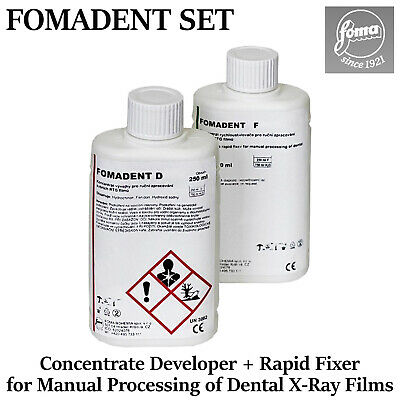 Fomadent Set Dental X-ray Film Developer Rapid Fixer Concentrate Manual Process