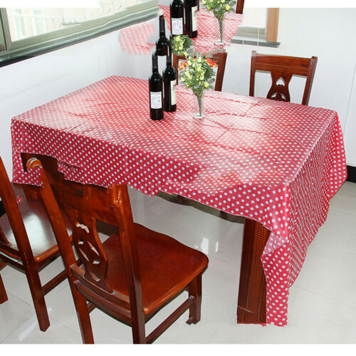 Multi color Disposable Tablecloth Polka dot Table Cloth For