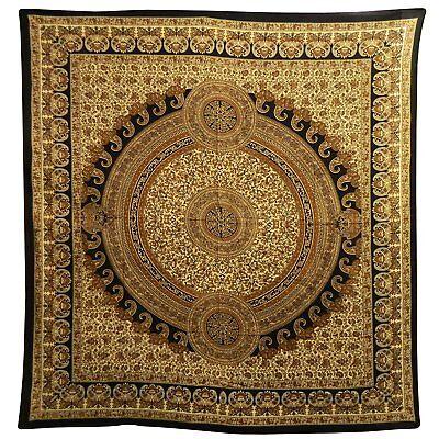 Tagesdecke Paisley braun 230 x 210 cm Baumwolle Indische Decke Deko
