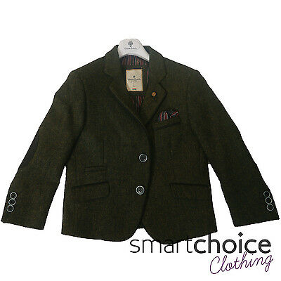 BRAND NEW Boys Kids Green Tweed Blazer Jacket Soft High Quality Free Postage - Kids Green Blazer