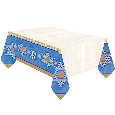 Hanukkah Paper Tablecover - Hanukkah Party Supplies - Judaic Traditions  (Hanukkah Supplies)