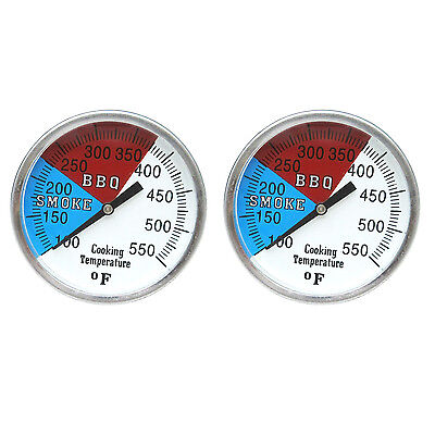 Replacement charcoal Grill wood smoker oven pit temp gauge thermometer 2-2'' 550