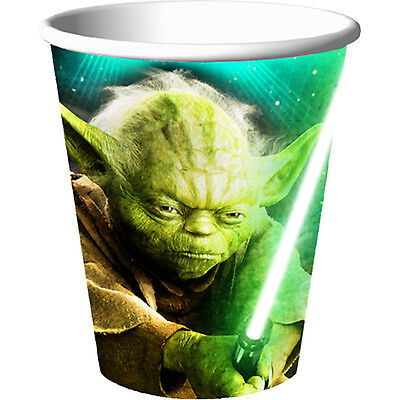 Star Wars Party Supplies Cups Birthday Decoration Yoda Favors boy Black 8 Pieces](Yoda Party Supplies)