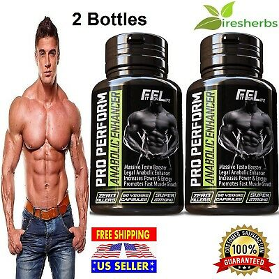 2 BOTTLES - BEST PRE WORKOUT RIPPED LEAN MUSCLE GROWTH GAIN WORKOUT 120