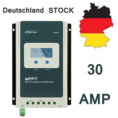 24v Solar Charge Controller (EPEVER Tracer 3210AN MPPT Solar Laderegler charge controller 30A 12/24V MAX 100V)