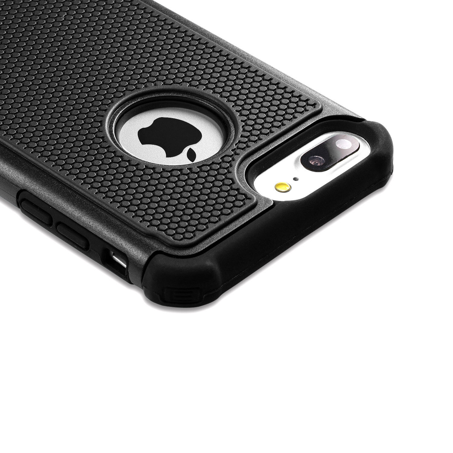 iPhone X 6S 7 8 Plus Case Non-Slip Hybrid Dual Layer Silicone Shockproof Cover
