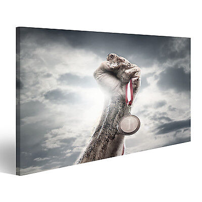 Bild Bilder auf Leinwand Gewinner Erfolg Motivation Faust BXE-1K