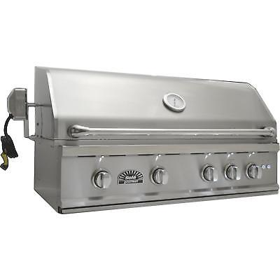 Sole Luxury TR 38-Inch Built-In Natural Gas Grill With Rotis