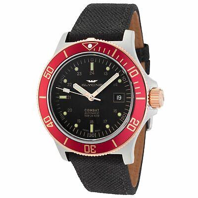 Glycine 3908.393.R6.TBA9 Men's Combat Sub Automatic Black Automatic Watch