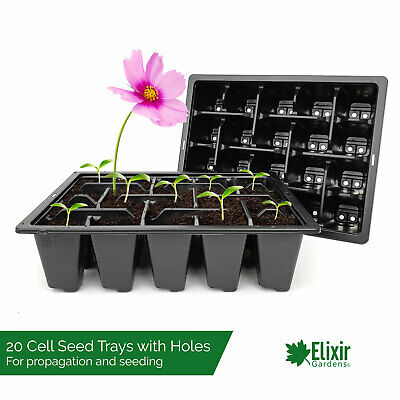 400 x 20 Cell Bedding Plant Pack Tray Inserts for Half Size Seed Trays