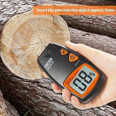 Dr.meter Digital Wood Moisture Meterwood Water Moisture Tester With Hd Digital