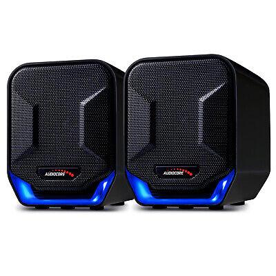 Altavoces Estéreo 6W USB 5V para Ordenador PC Audio 3,5 mm Iluminación...