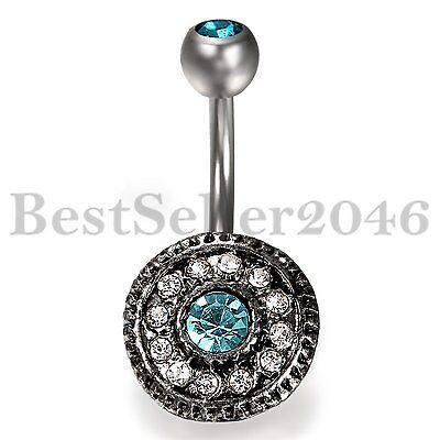 Fashion Women Bohemian Belly Button Ring Dangle Navel Ring Piercing Body Jewelry