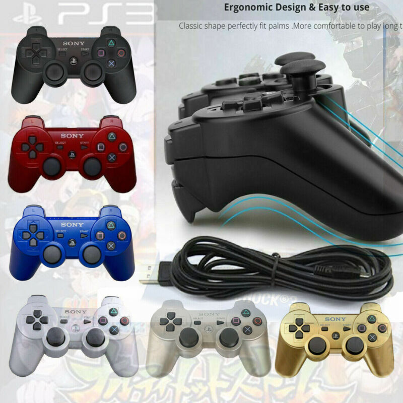 PS3 Controller PlayStation3 DualShock Wireless SixAxis GamePad Gift US