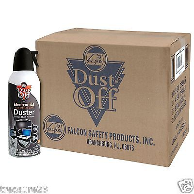 Falcon Dust-Off 10oz Professional Safety Compressed Air Duster 12-PACK