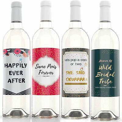 Bachelorette Party Wine LabeI Bridal Shower Wedding Wine Bottle Labels Favors