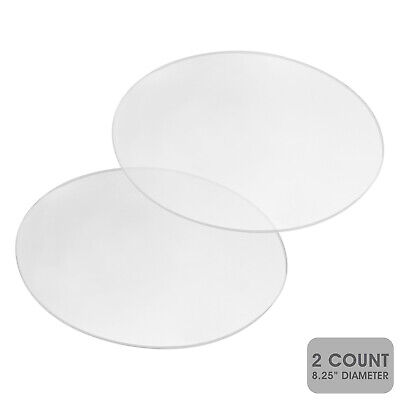 SpecialT Acrylic Cake Disc, 8.25 Inch 2 Pack - Round Acrylic Disc Set Cake Disk