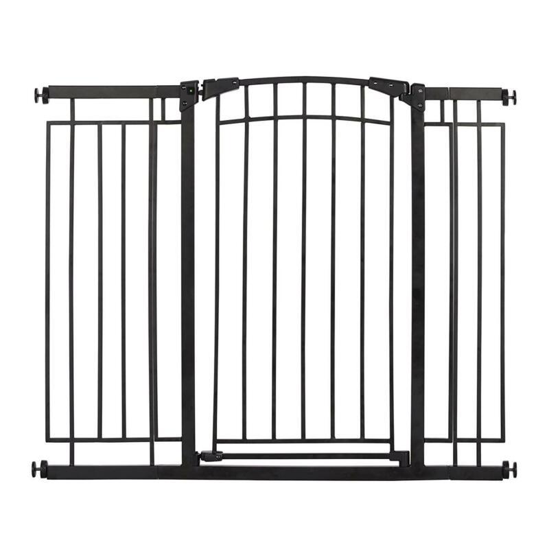 "Evenflo Multi-Use Decor Tall Walk-Thru Gate, Fits openings 28""-48"", Black Metal"