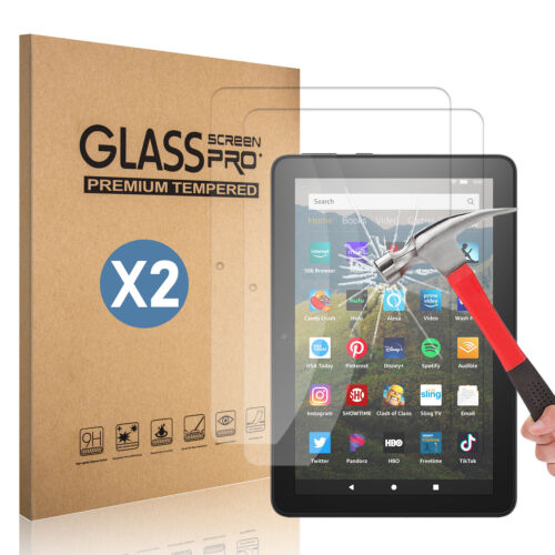 For Amazon Fire HD 8 2020 10th Gen / 8 Plus 2020 Tempered Glass Screen Protector