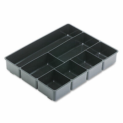 Rubbermaid Extra Deep Desk Drawer Director Tray Plastic Black 11906ros
