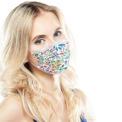 ALB Stoffe® ProtectMe FLORETS, 20x medizinische OP-Masken, CE-zert., Made in DE