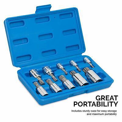 Neiko 10 Pc XZN Triple Square Spline Bit Socket S2 Steel MM 4mm - 18mm