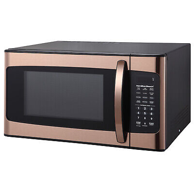 Hamilton Beach 1.1 cu FT Kitchen Microwave Oven Cooking Copper 1000W LED...