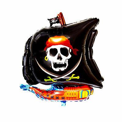 Piraten Schiff Folien Luftballon für Kindergeburtstag Piraten Party Deko Ballon ()