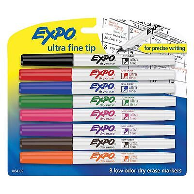 Expo - Low-odor Dry-erase Marker Ultra Fine Point Assorted - 8 Per Set