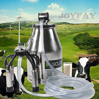 U.S.Solid  Dairy Cow Milker Bucket Milking Machine 304 Stainless Steel FDA