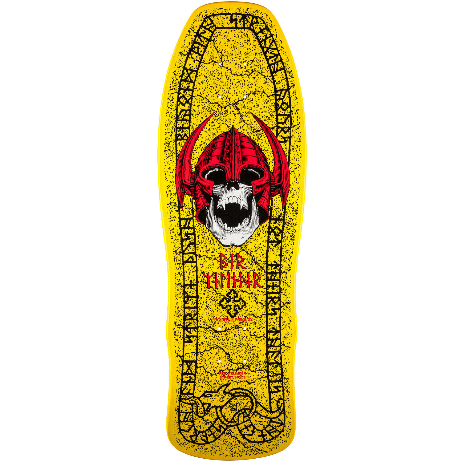 Powell Peralta Re-issue Skateboard Deck Welinder Nordic Skull Yellow ...