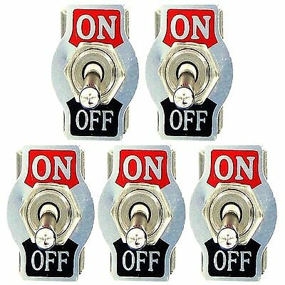 10x Heavy Duty10a 125v15a Spst 2pin Onoff Rocker Toggle Switch Waterproof Boot