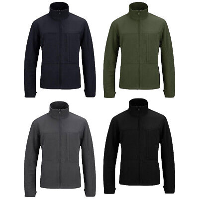 Propper Full Zip Durable Polyester Knit Fleece Stand-Up Collar Tech Sweater Full Zip Stand