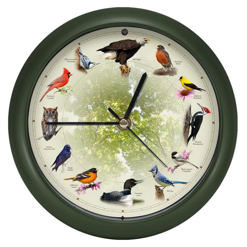 Limited Edition 20th Anniversary Singing Bird Wall/Desk Sound Clock, 8 Inch