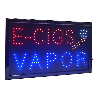 Large E-cigs Vapor Led Light Business Open Sign Chain Switch 21.5x13