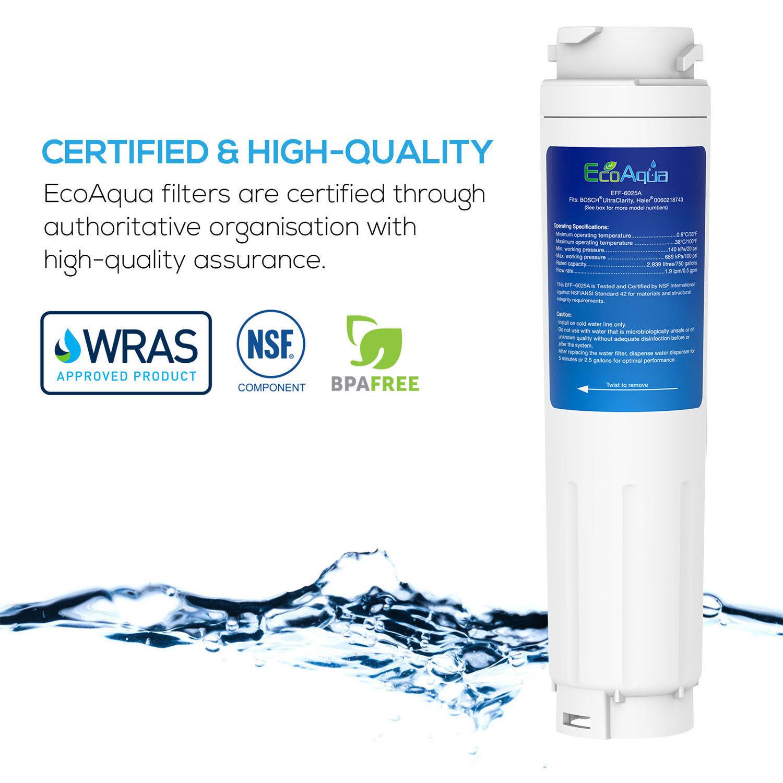 2x Compatibile Filtro Acqua per Rangemaster DXD 90170 dxd910 Bosch Ultra Clarity