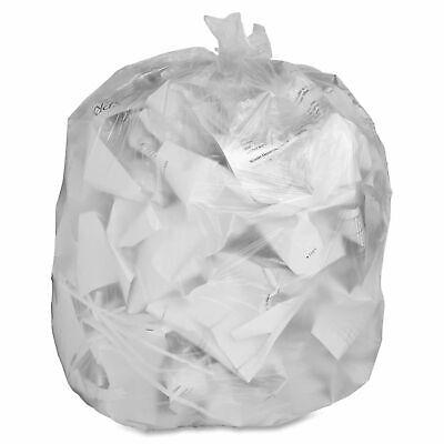 200 x Clear Waste Sacks / Bin Liners - 18x29x39