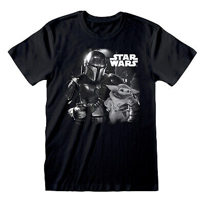 Star Wars The Mandalorian B&W Photo T Shirt Official The Child Baby Yoda NEW