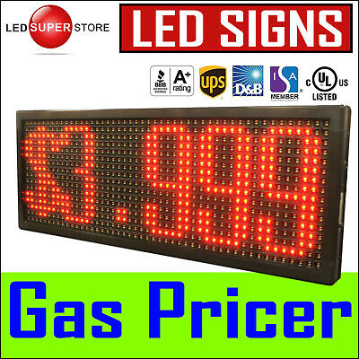 13 X 50 Super Led Gas Station Price Changer Electronic Fuel Digital Sign