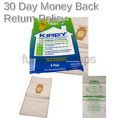 Kirby 6 Cloth F Style Vacuum Bags Sentria II Ultimate G Diam