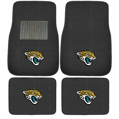 New 4pcs NFL Jacksonville Jaguars Car Truck Front Rear Carpet Floor Mats Set Jacksonville Jaguars Nfl Car Mats