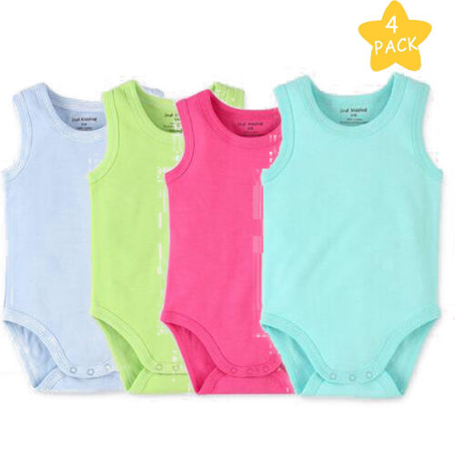 Baby Girls Sleeveless Tank Top Cotton Baby Bodysuit Pack of Summer Clothes