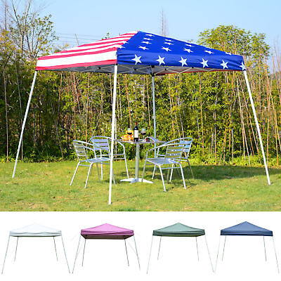 10' x 10' EZ Pop Up Canopy Outdoor Slant Leg Wedding Party T