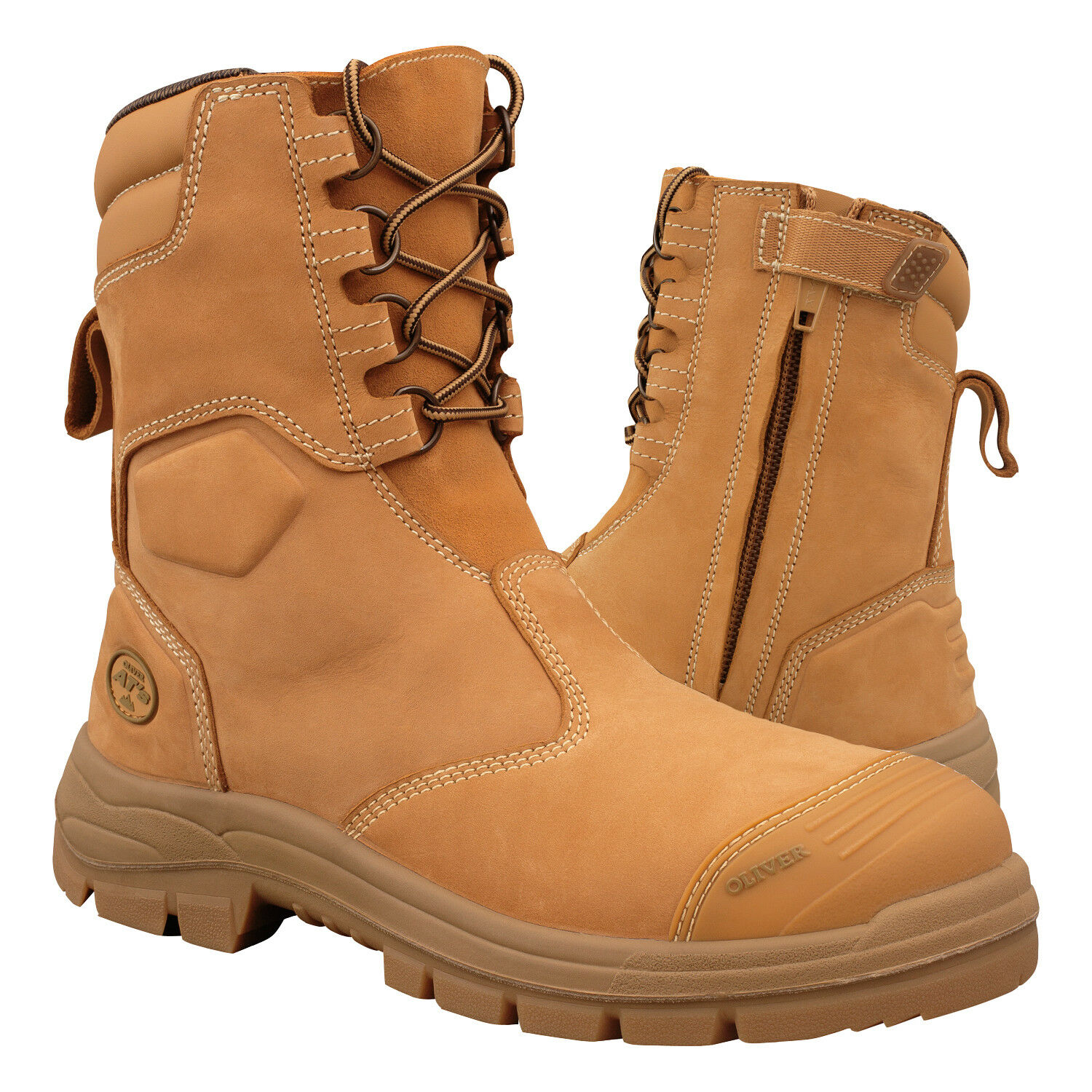 Details about New Oliver Men s Work Safety Boots Steel Toe ZIP High Leg  Mining Shoes 55385 078349ac705f
