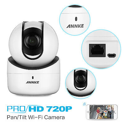ANNKE 720P Wireless IP Security Camera webcam Wifi onvif Hands-Free one Touch IR