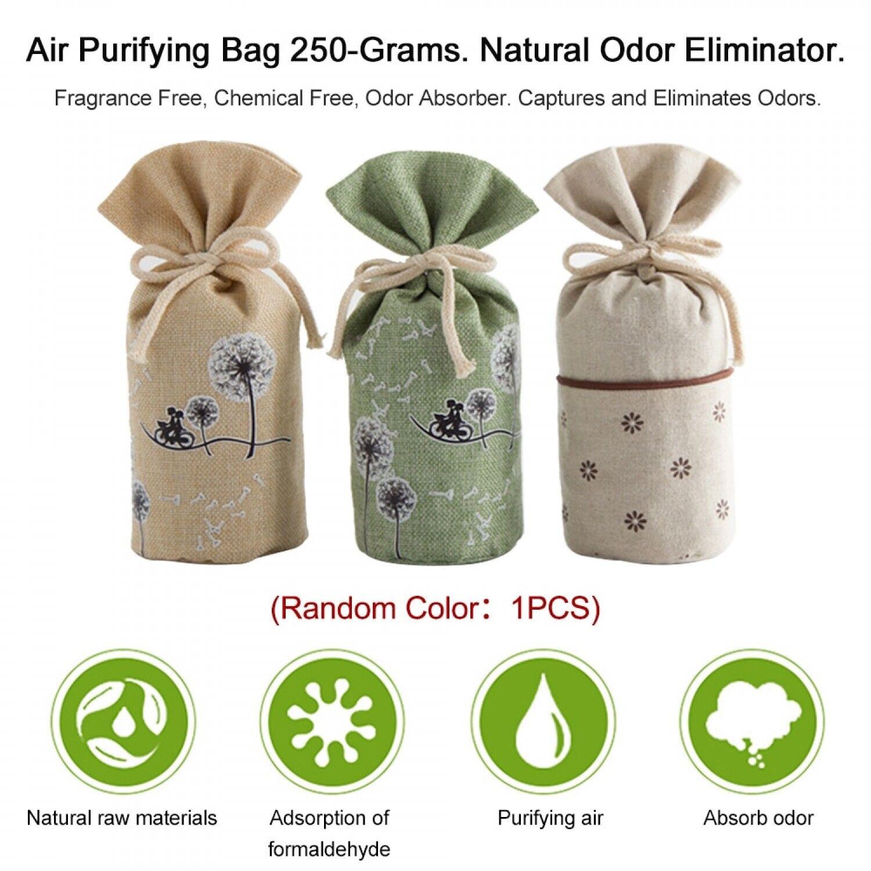 Air Purifying Bag 250-Grams Natural Odor Eliminator Fragrance Free Chemical Odor