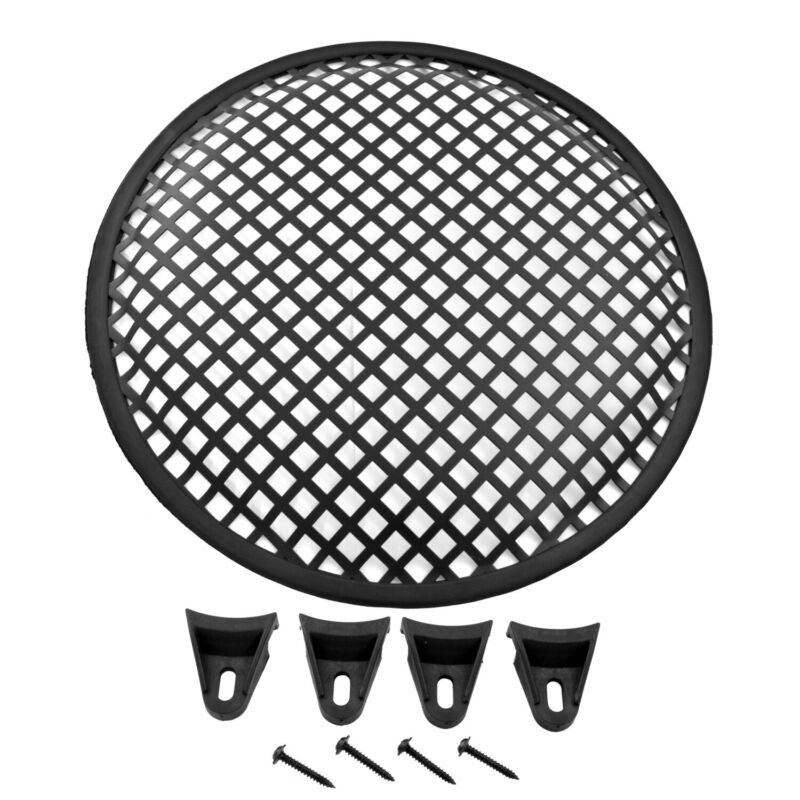 Universal 10 inch Steel Mesh Speaker Subwoofer Grill Cover Waffle Style w/ Clips